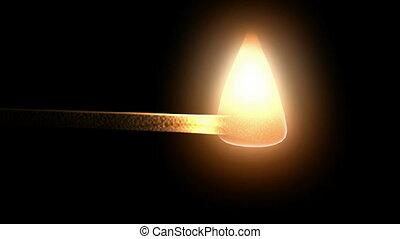 matchstick., hd, cg.