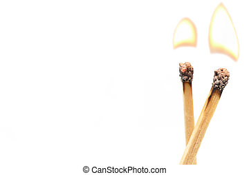 matchstick isolated on white background