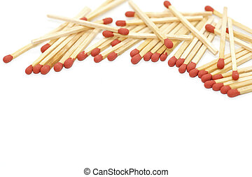 matchstick isolated on white