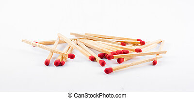 Matchstick , isolated on white