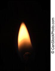 matchstick on fire