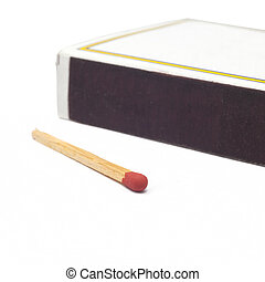Matchstick on white background