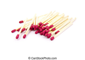 matchstick on white