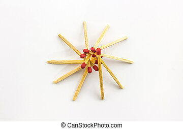 matchstick. - Red matchstick in Star form isolated on white ...
