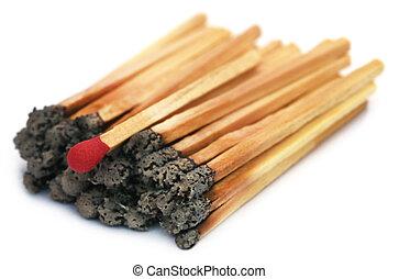 matchsticks , έκαψα