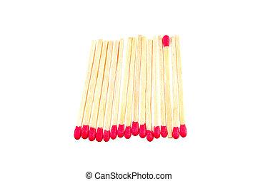 Matchsticks in a row