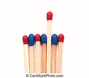 Matchsticks. isolated on white background