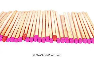 Matchsticks on isolated background