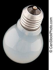 Mate light bulb on black