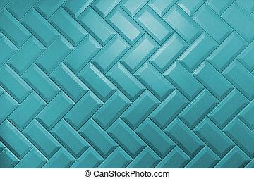 mate, patrón, menthe, azulejos, biselado, agua, puesto, herringbone, cerámico