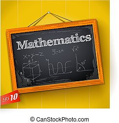 matemática, chalkboard