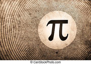 matemática, pi