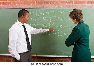 matemáticas, ensinando
