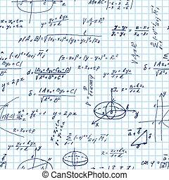 matemáticas, patrón, seamless