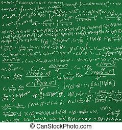 matemáticas, pizarra
