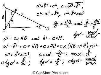 matemáticas, plano de fondo