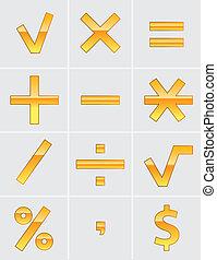 matemáticas, señal
