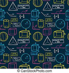 matemáticas, seamless, patrón
