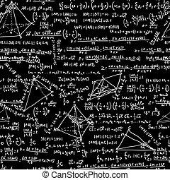 matemáticas, seamless, pattern., eps, 8