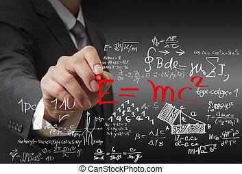 matemáticas, y, ciencia, fórmula