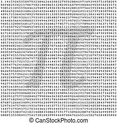matemático, 3.1415, -, columna, vector, figuras, plano de ...