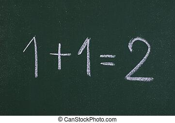 matemático, operaciones, simple