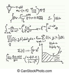 matemático, patrón, fórmulas