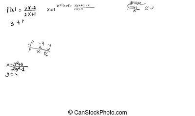 matematica, equazioni, scribbling