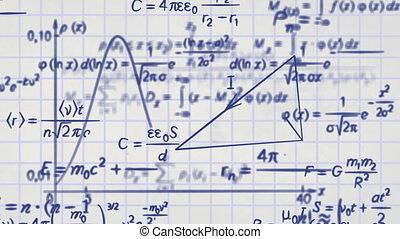 matematica, fisica, formule, cappio