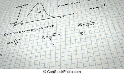 matematica, fisica, formule, su, quadrato