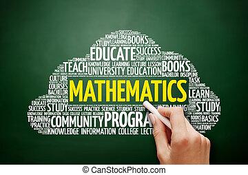 matematica, parola, nuvola