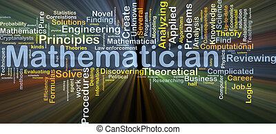matematiker, baggrund, begreb, glødende