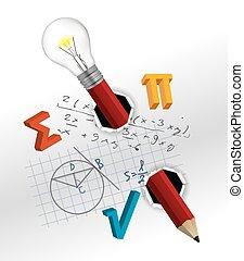 matematyka, figlarny, skład