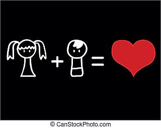 matematyka, miłość
