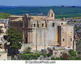 Matera, Basilikata, Italy. Monasteiro Tu Sant Agostino