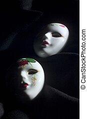 materiał, ceramiczny, maski