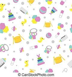 materiał, chorągiew, próbka, seamless, etc, papier, kurtyna, niemowlę, zarzutka, tło