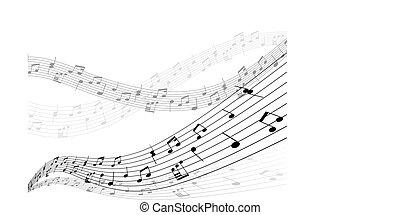 materiał, muzyczny, tło