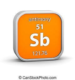 materiaal, antimony, meldingsbord