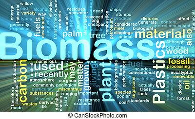 materiaal, gloeiend, concept, biomass, achtergrond