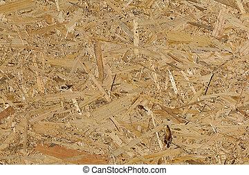 materiaal, -, textuur, achtergrond., hout, achtergrond, osb,...
