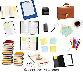 materiais de escritório, negócio