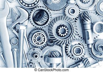materiais, industrial, nozes, parafusos