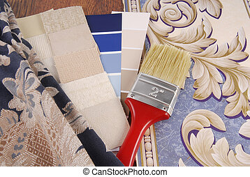 material color choosing for interior decoration