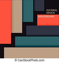 Material Design Background. Abstract Background with...