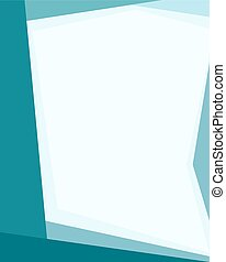 Material design background - Blue flat vector banner in a...