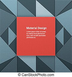 Material design background - Geometrical background in...