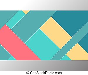 Material design background template. Colorful horizontal...