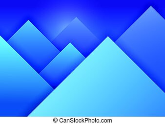 Material Design Background with Mountain Landscape. Blue...
