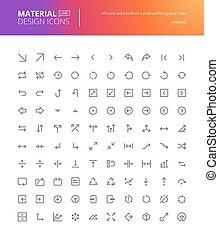 Material design icons set